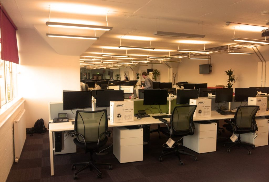 Office Lighting from Dazzled Lighting