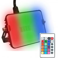 10w RGB+W Colour Change LED Flood Light (Red, Green, Blue + White)