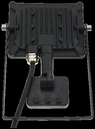 10w Slim LED Flood Light +PIR Motion Sensor Rear